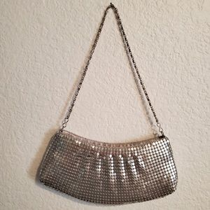 Silver Chain Mail 90's Cocktail Evening Mini Bag